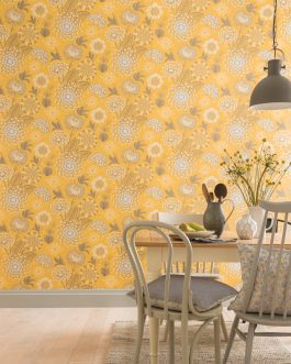 Papel Vintage Bloom Mustard Yellow