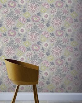 Papel VINTAGE BLOOM RASPBERRY